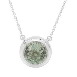 7.88ct Eden Cut Prasiolite Britannia Silver Necklace
