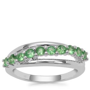 Tsavorite Garnet Ring in Sterling Silver 0.68ct