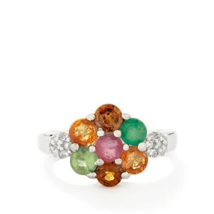 Multi-Colour Gemstone Sterling Silver Ring ATGW 2.63cts (F)