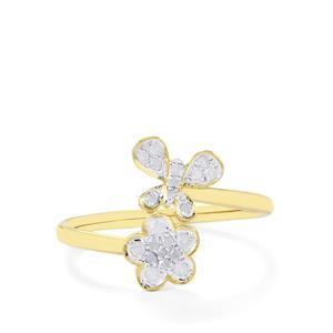 Diamond Ring in 10k Gold 0.17ct