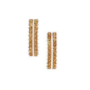 1.78ct Golden Tourmaline Sterling Silver Earrings