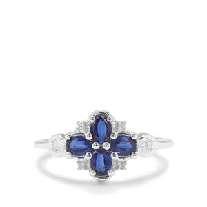 Nilamani Ring with White Zircon in Sterling Silver 0.96ct