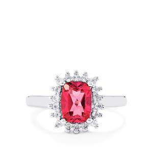 1.97ct Mystic Pink & White Topaz Sterling Silver Ring