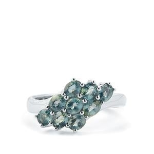 2.10cts Madagascan Natural Sapphire Sterling Silver Ring