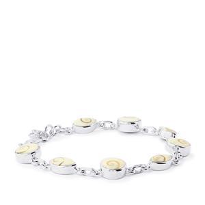 Shiva Eye Shell Sterling Silver Aryonna Bracelet