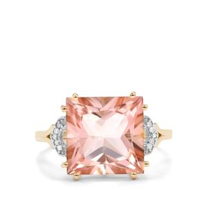 Galileia Topaz & Diamond 9K Gold Ring ATGW 7.52cts