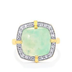 Aquaprase™ & White Topaz Gold Vermeil Ring ATGW 7.50cts