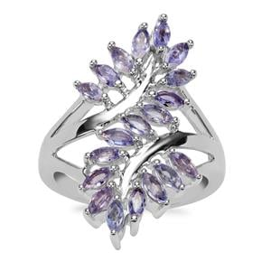 Tanzanite Ring in Sterling Silver 1.52cts