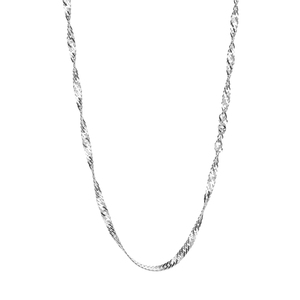 "18"" Sterling Silver Classico Twist Curb Chain 1.91g"