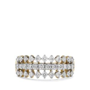 3/4ct Argyle Diamond 9K Gold Tomas Rae Ring