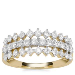 Argyle Diamond Ring in 10k Gold 0.77ct