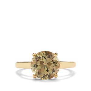 3.41ct Csarite® 18K Gold Ring