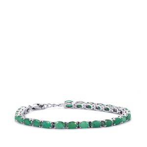 11.41ct Carnaiba Brazilian Emerald Sterling Silver Bracelet