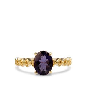 1.28ct Bengal Iolite 9K Gold Ring