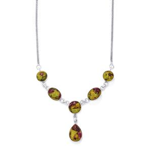 27ct Stichtite Sterling Silver Aryonna Necklace