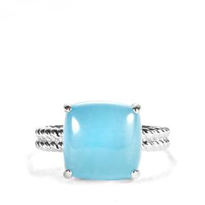 9.62ct Blue Jade Sterling Silver Ring