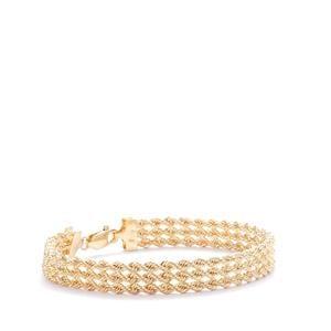 9K Gold Altro Hollow Rope Bracelet 5.50g