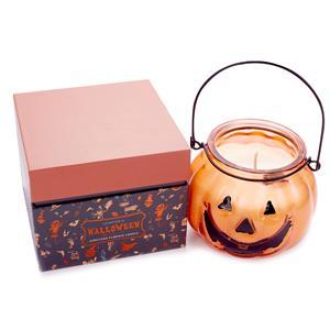 Pumpkin Candle, Pumpkin Spice Fragrance with Spider Jasper ATGW 50 cts