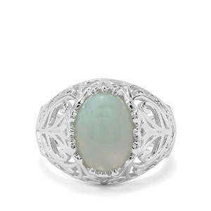 3.66ct Aquaprase™ Sterling Silver Ring