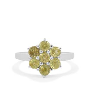 Ambilobe Sphene Ring in Sterling Silver 1.65cts