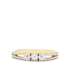 1/3ct White Diamond 18K Gold Tomas Rae Ring