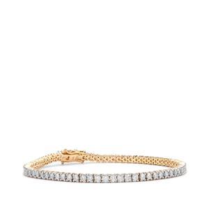 Diamond Bracelet in 18K Gold 3.85ct