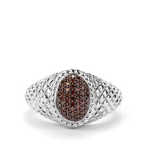1/5ct Red Diamond Sterling Silver Ring