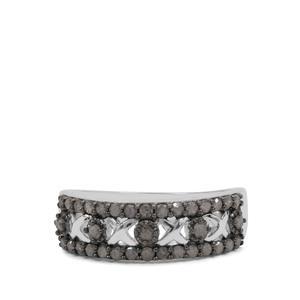 1/2ct Salt & Pepper Diamond Sterling Silver Ring