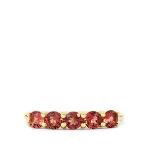 0.83ct Pink Tourmaline 9K Gold Ring