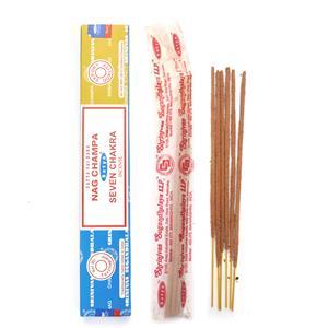 Satya Incense Sticks - 6 x Nag Champa  & 6 Seven Chakras