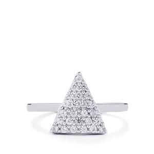 0.55ct White Zircon Sterling Silver Ring