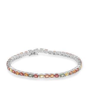 Songea Rainbow Sapphire Bracelet in Sterling Silver 10.40cts