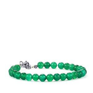 Verde Onyx Bead Bracelet in Sterling Silver 39cts