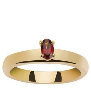 Garnet Ring in Gold Vermeil 0.2ct