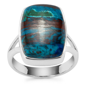 Chrysocolla Ring in Sterling Silver 15.53cts