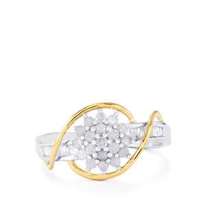 1/2ct Diamond Two Tone Midas Ring