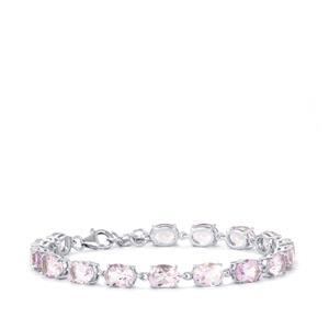 Rose De France Amethyst Bracelet in Sterling Silver 19.20cts