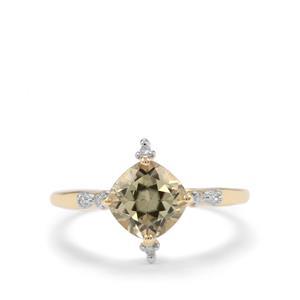 Csarite® & Diamond 9K Gold Ring ATGW 1.72cts