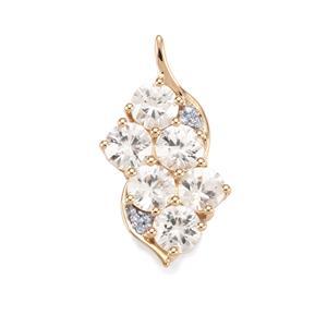Singida Tanzanian Zircon & Diamond 10K Gold Pendant ATGW 4.77cts