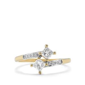 Diamond Ring in 18K Gold 0.54ct