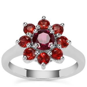 Rajasthan and Nampula Garnet Ring in Sterling Silver 2.08cts