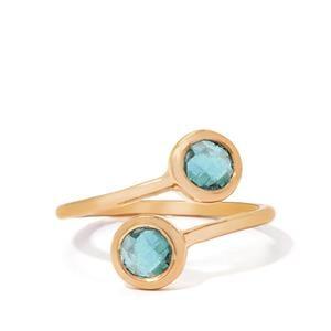 0.80ct Aquamarine Gold Vermeil Ring
