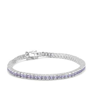 Tanzanite Bracelet  in Sterling Silver 6.08cts