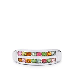 0.85ct Rainbow Tourmaline Sterling Silver Ring