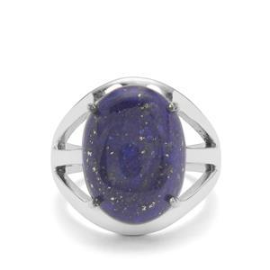 Sar-i-Sang Lapis Lazuli Ring in Sterling Silver 11cts