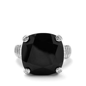 21.12cts Black Spinel Sterling Silver Ring