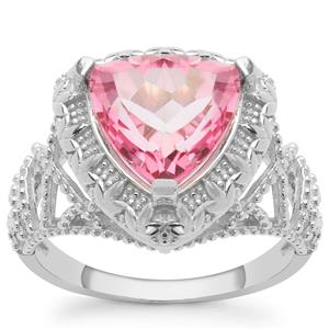 Pure Pink Topaz Ring in Sterling Silver 3.95cts