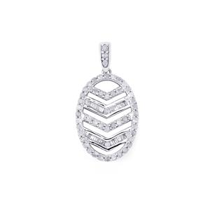 Diamond Pendant in Sterling Silver 0.51ct