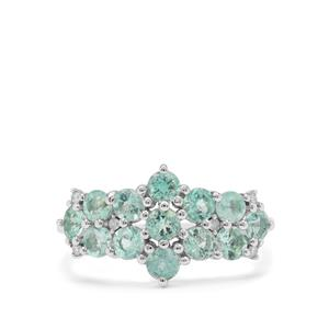 Aquaiba™ Beryl Ring with Diamond in 9K White Gold 1.25cts
