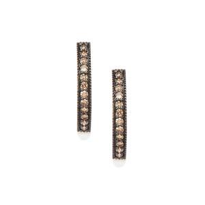 1/2ct Champagne Diamond 10K Gold Earrings